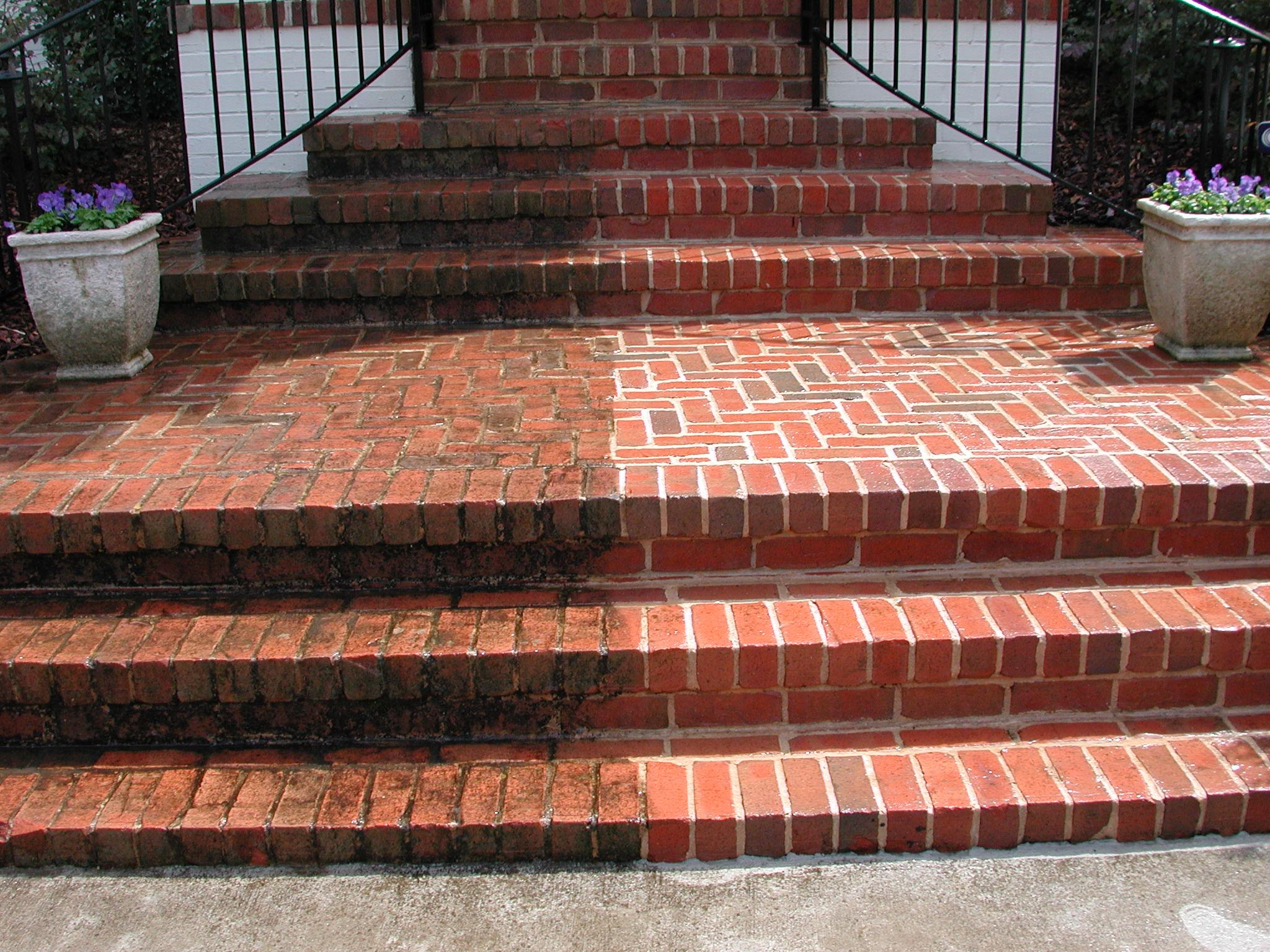 Before & After: Brick Stair Entrance Way