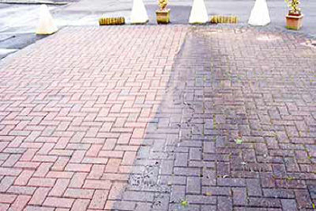 Before & After: Brick Walkway