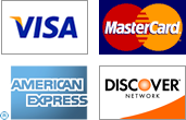 We Proudly Accept Credit Cards